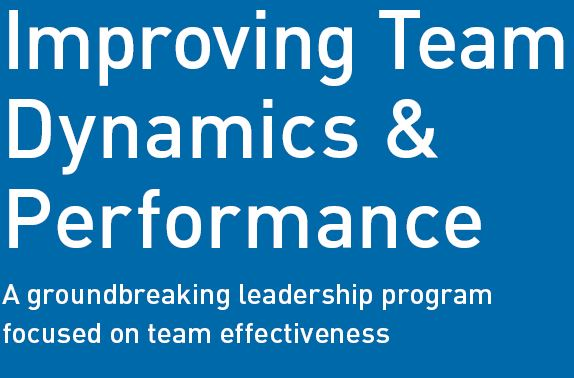 Improving team dynamics and performance
