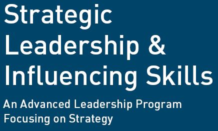 Strategic leadership and influencing skills